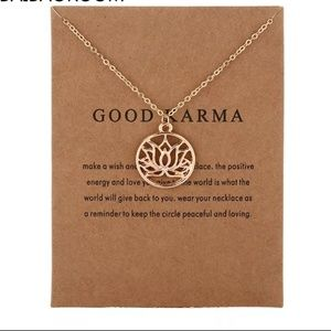 Jewelry - Good Karma Lotus Necklace